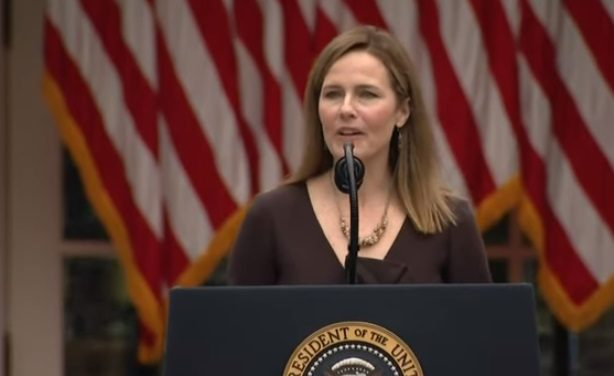 Supreme Court Fight begins in earnest as Trump nominates Amy Coney Barrett