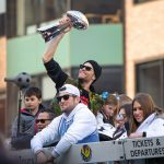 Brady Gives Vince Lombardi Trophy a Toss